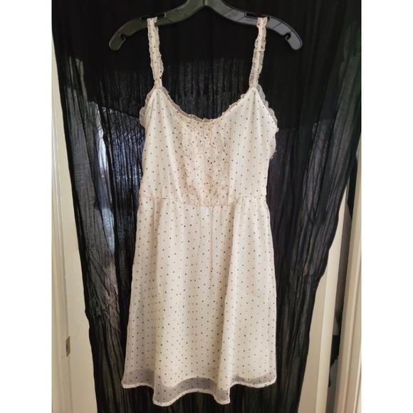 Zara Dresses & Skirts - Zara White Polka Dot Dress